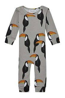 MINI RODINI Toucan sleepsuit 3-12 months
