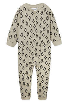 MINI RODINI Penguin print babygrow 3-12 months