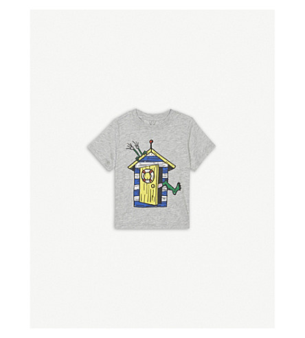 STELLA MCCARTNEY Chuckle Cabin print T-shirt 6-36 months (Thunder