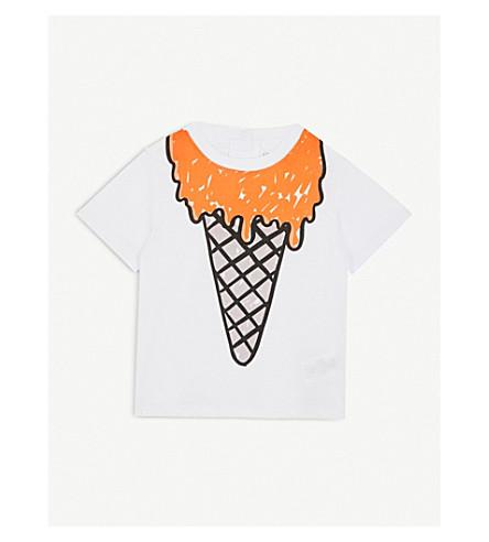 STELLA MCCARTNEY Chuckle icecream-print cotton T-shirt 6-36 months (White