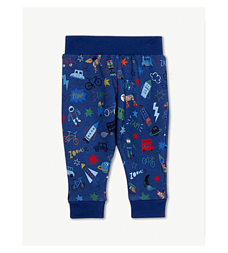 PAUL SMITH JUNIOR Space print cotton joggers 6-36 months (Medium+blue