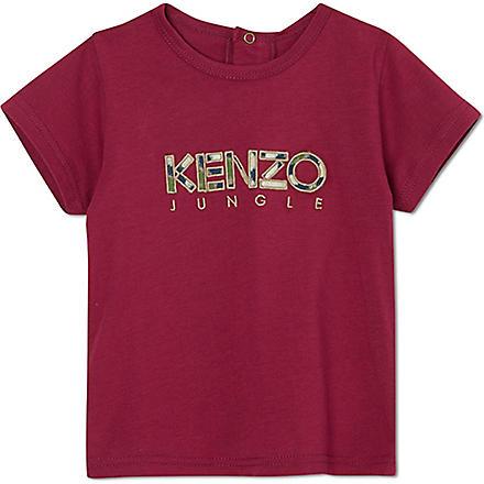KENZO Camouflage logo t-shirt 3 months- 2years (Plum