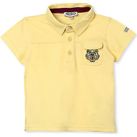 KENZO Tiger pocket polo shirt 3 months - 2 years (Yellow