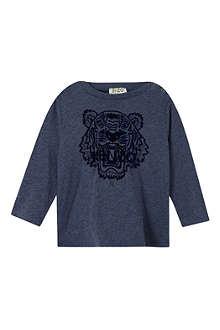 KENZO Flock print kenzo tiger t-shirt 3-36 months