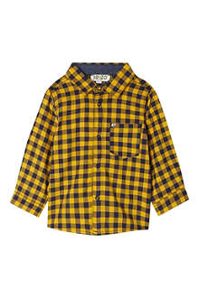 KENZO Tiger detail check shirt