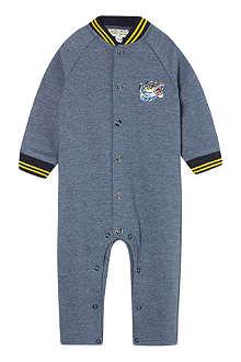 KENZO Blue tiger varsity sleepsuit 3-18 months