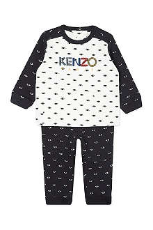 KENZO Eye print two piece outfit 3 months-3 years