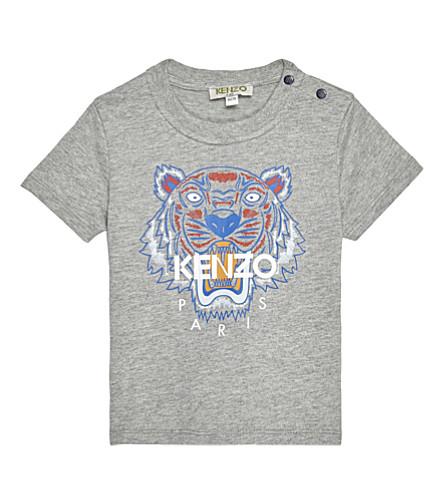 KENZO Tiger cotton t-shirt 6-18 months (Marled grey
