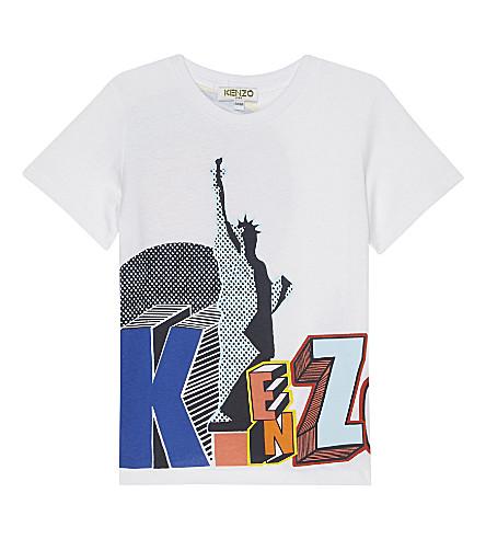 KENZO Bob cotton T-shirt 2-3 years (Blanc