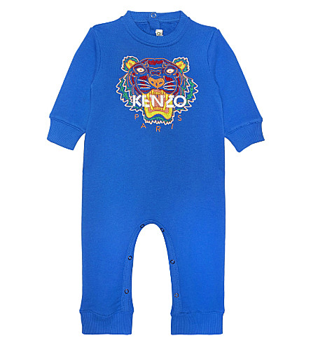 KENZO Tiger cotton sleepsuit 1-18 months (Vivid+blue