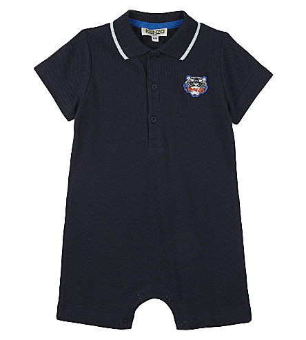 KENZO Tiger cotton polo bodysuit 1-18 months (Navy
