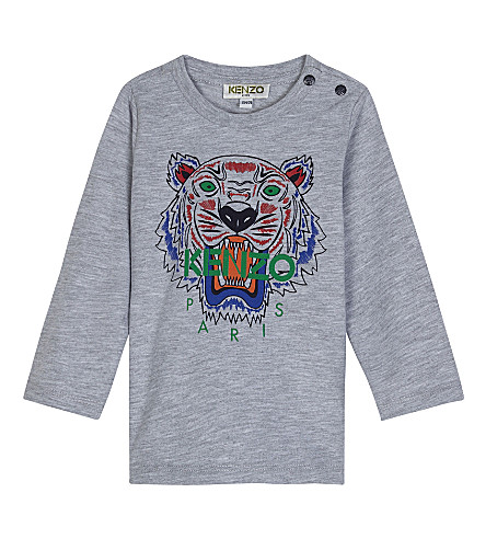 KENZO Tiger icon cotton t-shirt 3-18 months (Grey