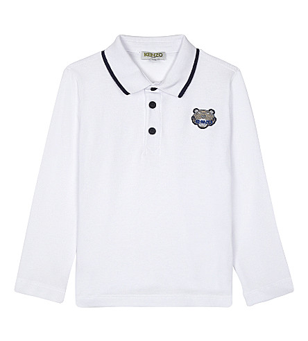KENZO Logo cotton polo shirt 2-3 years (White