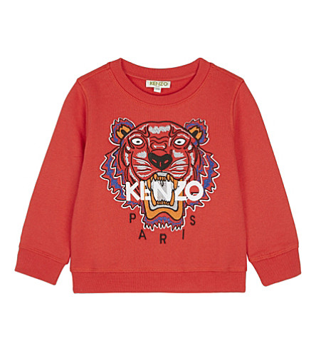 KENZO Icon Tiger cotton jumper 2-3 years (Red
