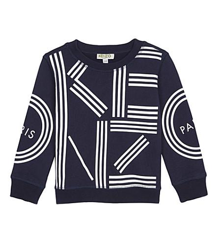 KENZO Cotton logo jumper 2-3 years (Navy
