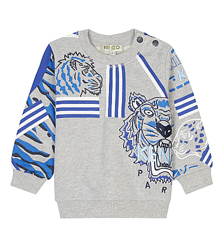 KENZO Tiger cotton sweatshirt 3-36 months (Grey