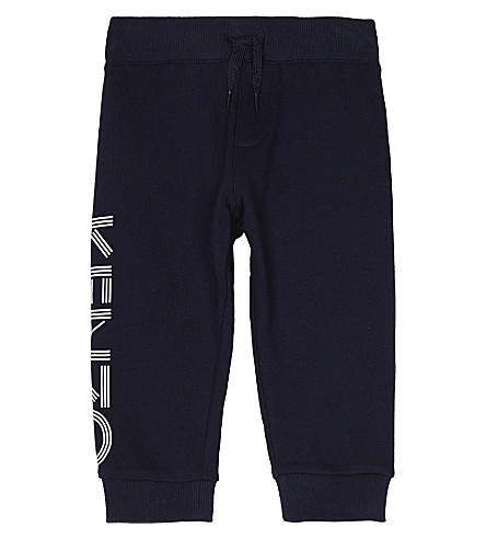KENZO Logo cotton tracksuit bottoms 2-3 years (Navy