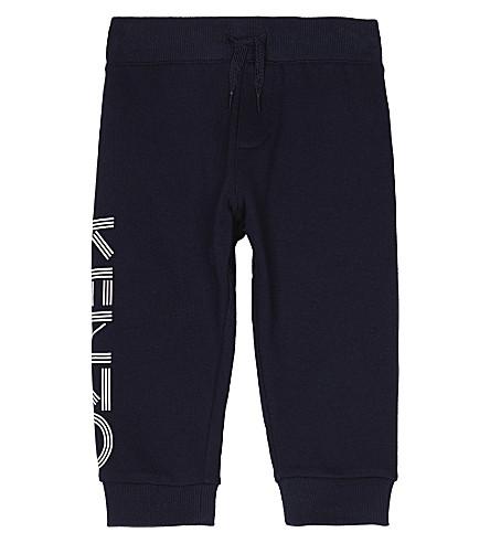KENZO Logo cotton tracksuit bottoms 2-3 years (Navy
