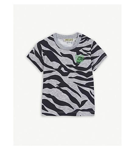 KENZO Tiger print T-shirt 3-18 months (Marled+grey