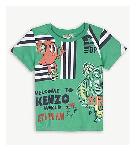 KENZO Food Fiesta print cotton T-shirt 2-3 years (Green