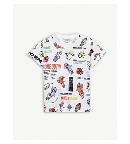 KENZO Food Fiesta cotton T-shirt 3-18 months (White