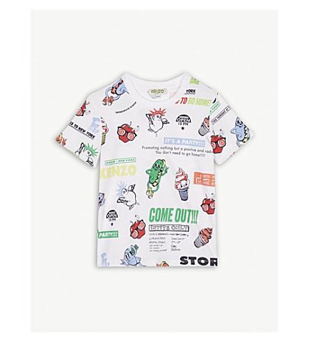 KENZO Food Fiesta cotton T-shirt 2-3 years (White