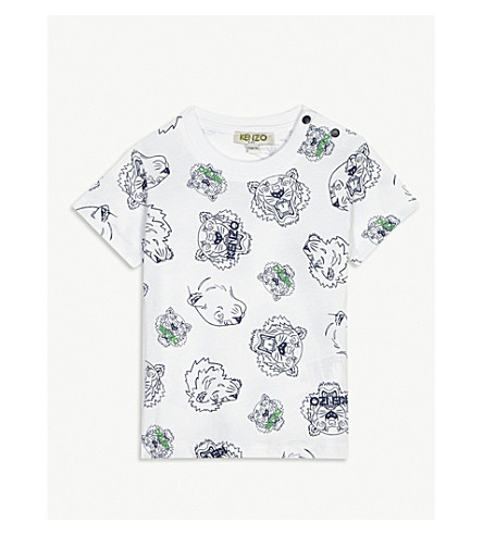 KENZO Tiger cotton T-shirt 3-18 months (White