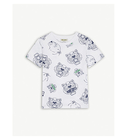KENZO Tiger cotton t-shirt 2-3 years (White