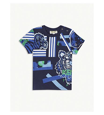 KENZO Tiger cotton T-shirt 3-18 months (Navy