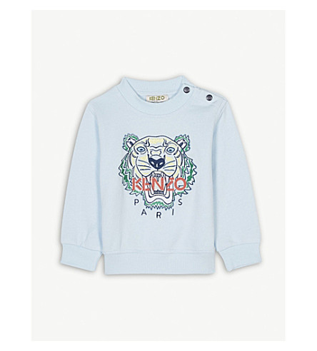 KENZO Tiger motif cotton jumper 3-36 months (Baby+blue