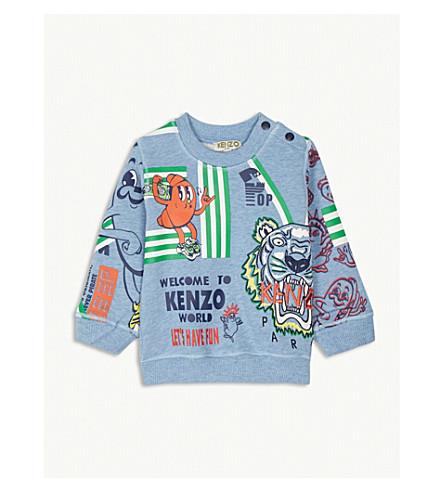 KENZO Food Fiesta print cotton sweatshirt 3-18 months (Baby+blue