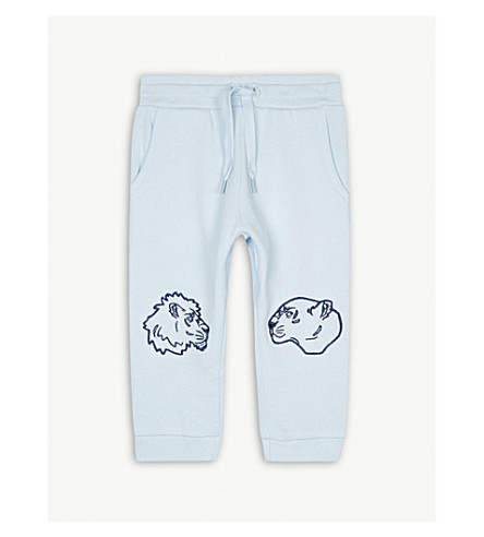 KENZO Tiger and friends cotton jogging bottoms 6-36 months (Baby+blue