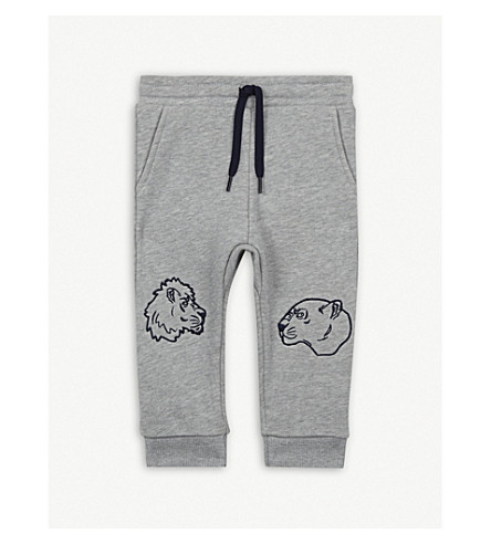 KENZO Cotton jogging bottoms 6-36 months (Marled+grey