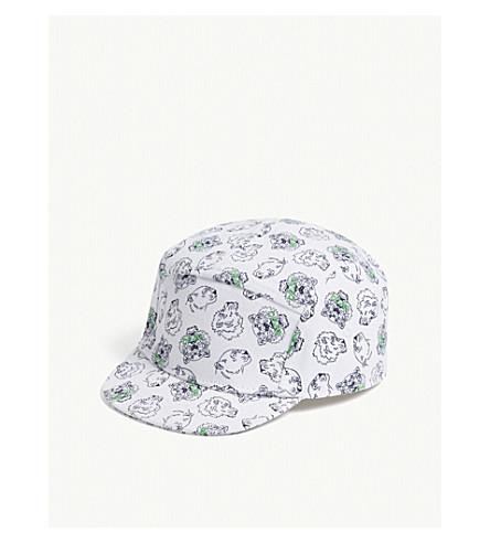 KENZO Tiger print cotton cap 3-36 months (Green