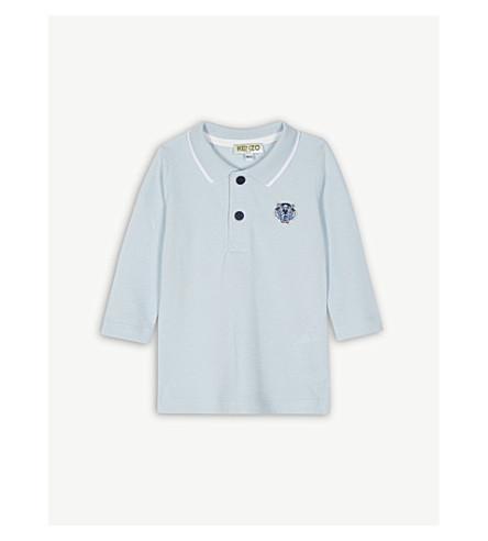 KENZO 虎图案棉质 Polo 衫 3-24 月 (淡 + 蓝