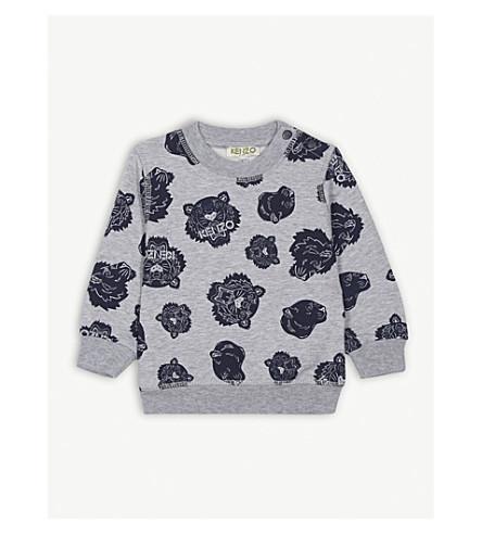 KENZO 老虎标志棉混纺卫衣 6-36 月 (石灰泥 + 灰色