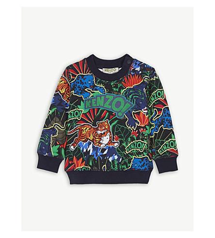 KENZO Jungle cotton sweatshirt 6-18 months (Navy