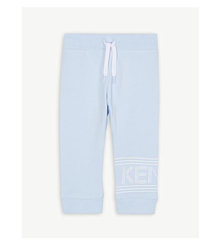 KENZO 条纹标志棉慢跑裤 6-36 月 (淡 + 蓝