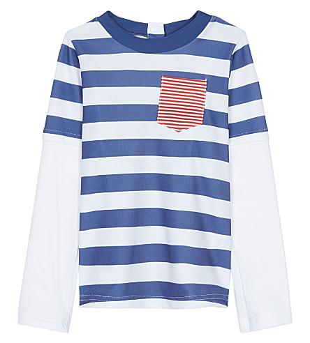 SUNUVA Nautical stripe rash vest 3-24 months (Navy+stripe