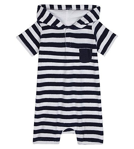 SUNUVA Striped towelling onesie 3-24 months (Stripe