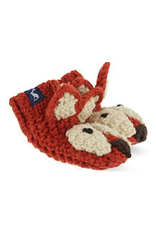 JOULES Knitted fox baby mittens S-L