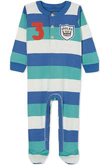 JOULES Striped long babygrow 0-12 months