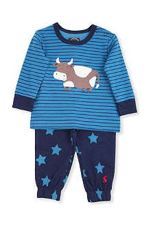JOULES Cow two piece pyjama set