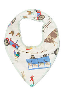 JOULES Reversible farmyard animals bib