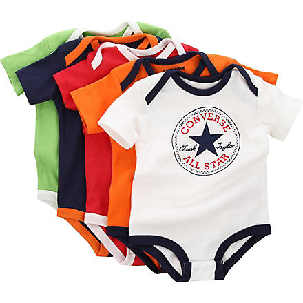 CONVERSE Five-pack bodysuit set 3-9 months (Multi