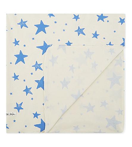 NOE & ZOE Star print cotton blanket (Blue+star