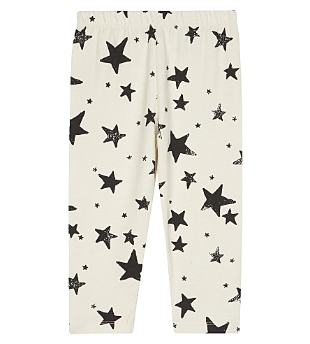 NOE & ZOE Cotton leggings 0-18 months (Black+star