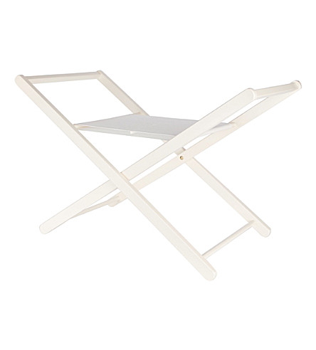 NOE & ZOE Basket support wooden stand (White