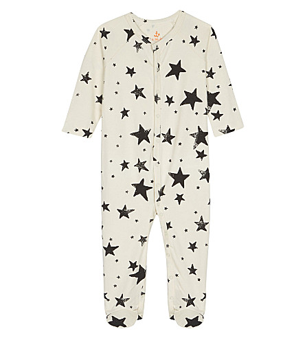 NOE AND ZOE Star cotton baby-grow 0-12 months (Black+star
