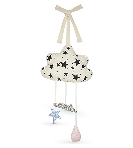 NOE AND ZOE Star-print cloud mobile (Multi+colour